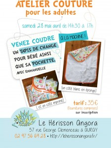 ATELIER COUTURE ADULTE au hérisson angora à auray